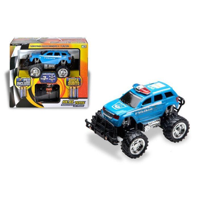 Reeltoys Jeep Radiocomanta Valigetta Polizia con Pile