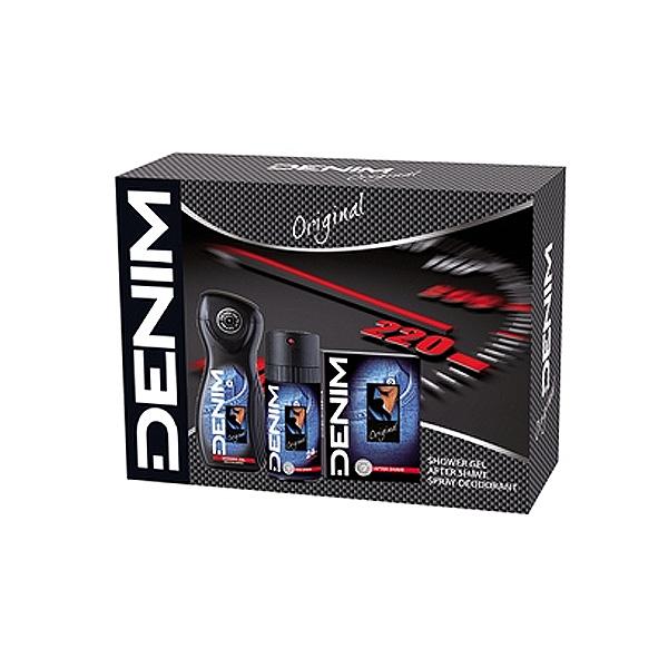 Denim  Cofanetto original  after shave 100 ml  deo 150 ml spray  shower gel 250 ml