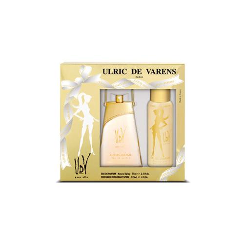 Varens Cofanetto Varens UdV Elle GoldIssime Donna Eau de Parfum 75 ml Deodorante Spray 125 ml