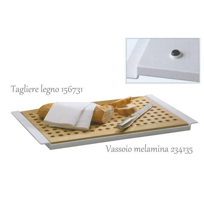 Sinsin Tagliere per Pane in Legno 52 x 34 cm