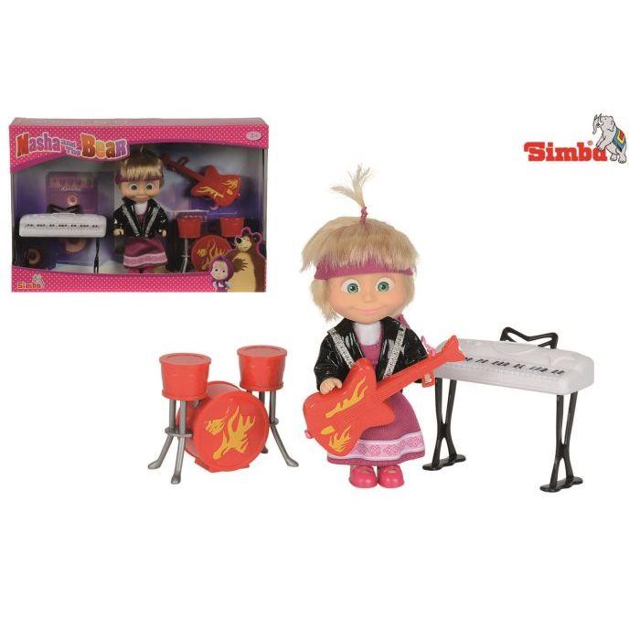 Simba Toys Masha con Strumenti Musicali 12 cm