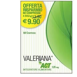 Valeriana act 125 mg 60 compresse da 125 mg