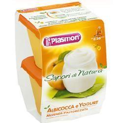 Plasmon sapori di natura omogeneizzato albicocca e yogurt 120 g x 2 pezzi
