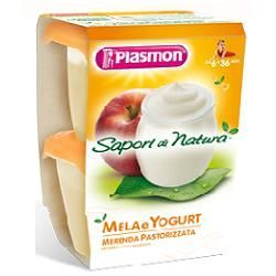 Plasmon sapori di natura omogeneizzato mela e yogurt 120 g x 2 pezzi