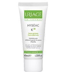 Hyseac k18 crema seboregolatricepurificante per la pelle del viso tubetto 40 ml