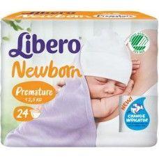 Libero newborn pannolino per bambino taglia premature 12x24 pezzi
