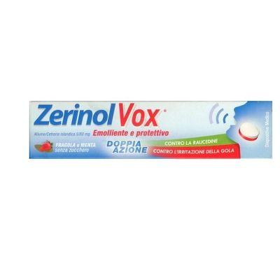 Zerinolvox fragola e menta emolliente e protettivo 18 pastiglie