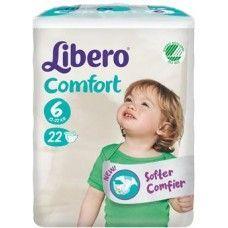 Libero comfort pannolino per bambino taglia 6 1320 kg  22 pezzi