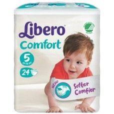 Libero comfort pannolino per bambino taglia 5 1014 kg  1 pacco da 24 pezzi