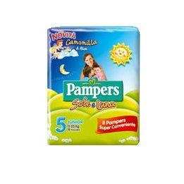 Pannolino per bambino pampers sole  luna flash junior 16 pezzi