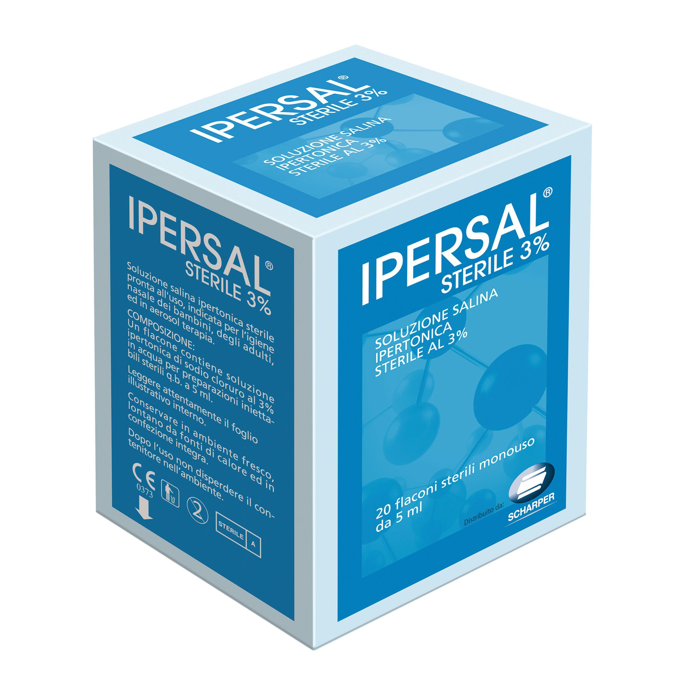 Soluzione ipertonica sterile ipersal 3 20 flaconcini 5 ml