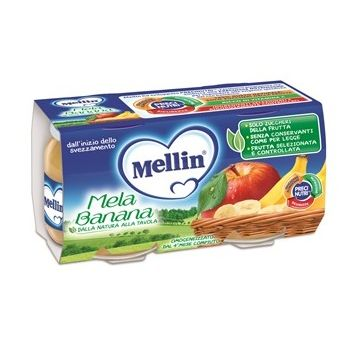 Mellin omogeneizzato mela banana 100 g 2 pezzi