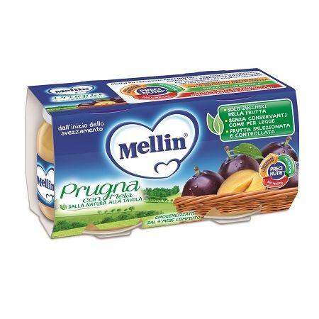 Mellin omogeneizzato prugna mela 100 g 2 pezzi