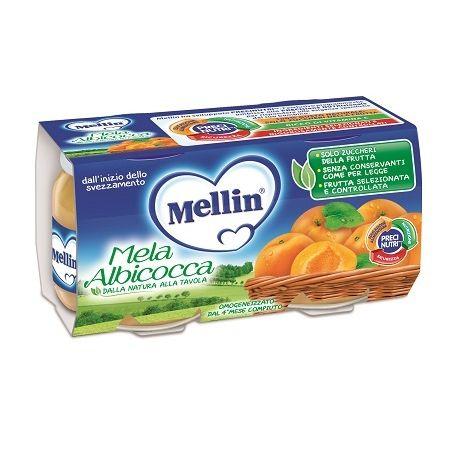 Mellin omogeneizzato melaalbicocca 100 g 2 pezzi