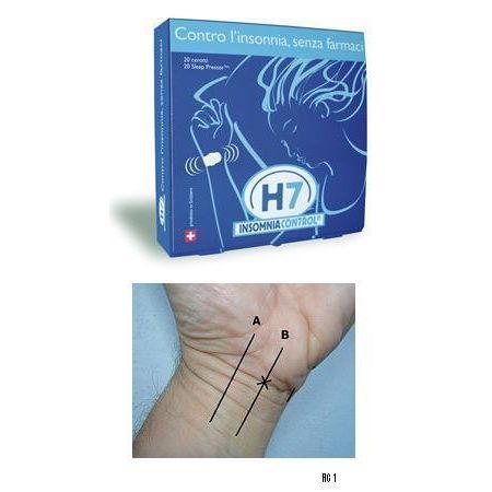 H7 insomnia control cerotto acupressione 20 pezzi