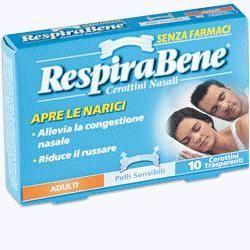 Cerotto nasale trasparente adulti respira bene 10 pezzi