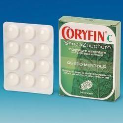 Coryfin c senza zucchero mentolo 48 g