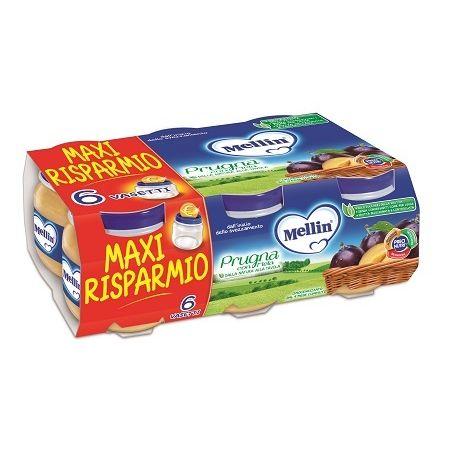 Mellin omogeneizzato prugna mela 100 g 6 pezzi