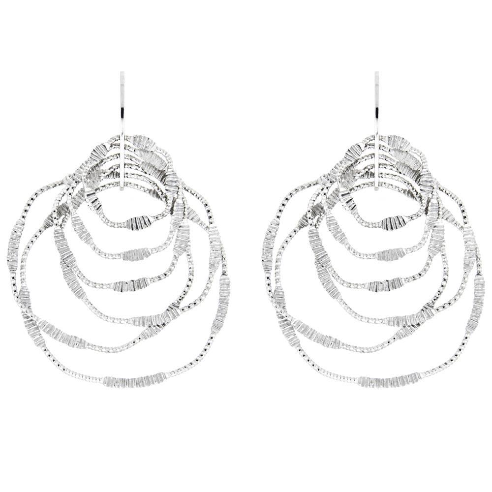 Paclo 15DC08LIER999 Orecchini Galvanica Rodiata Diamantato Collezione Diamantata 38cm