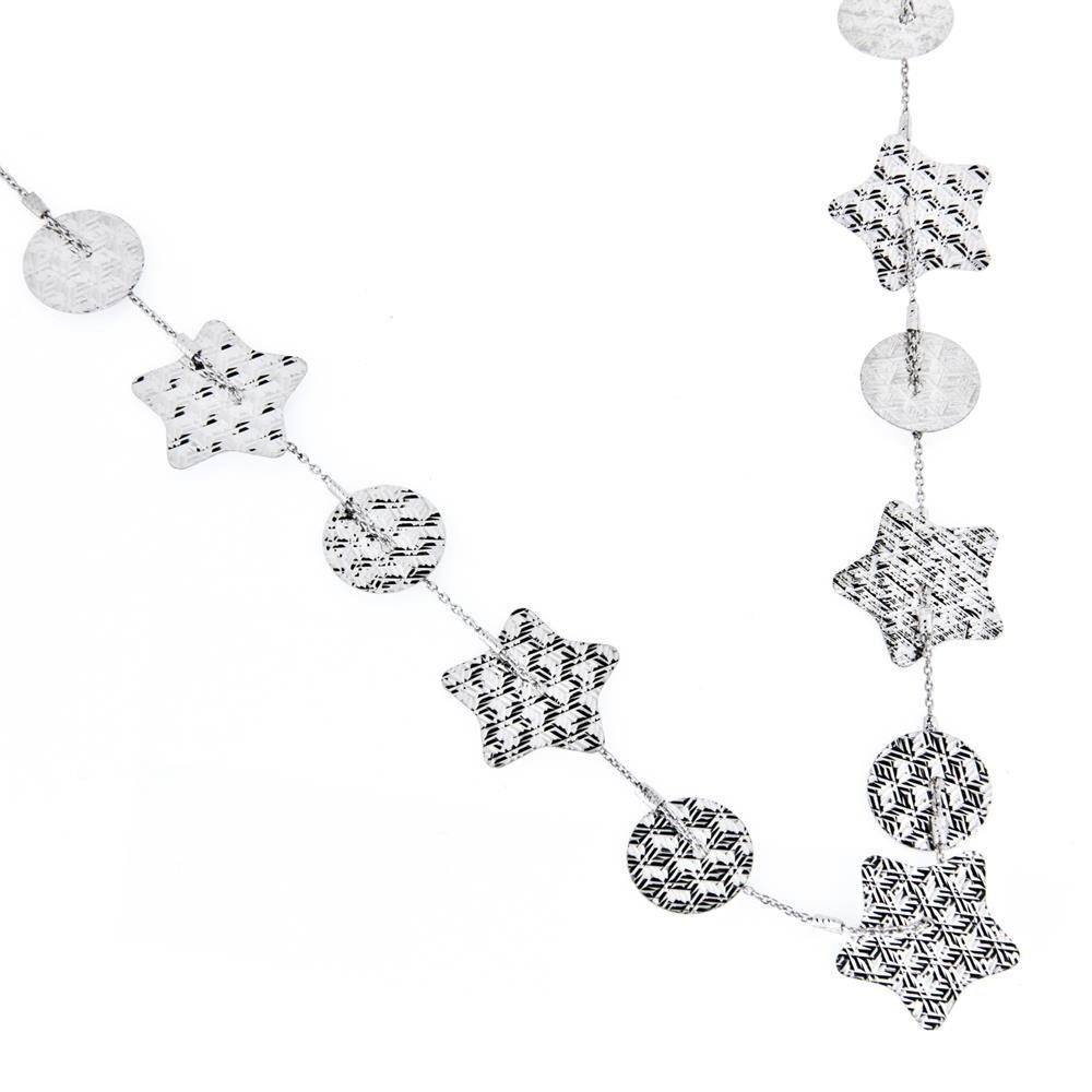 Paclo 15DC23LINR999 Collana Galvanica Rodiata Diamantato Collezione Diamantata 44 piu 3cm