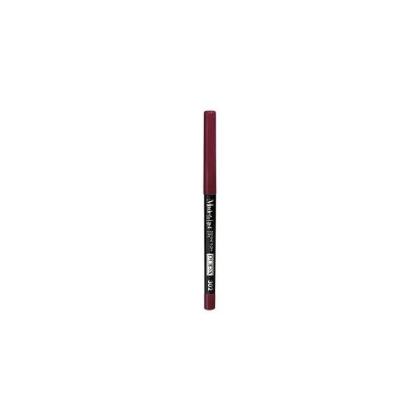 Pupa  Made to last definition lips  matita automatica labbra 302 chic burgundy