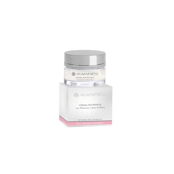 Almars  Crema viso nutriente con vitamine e latte di oliva pelli secche e sensibili 50 ml