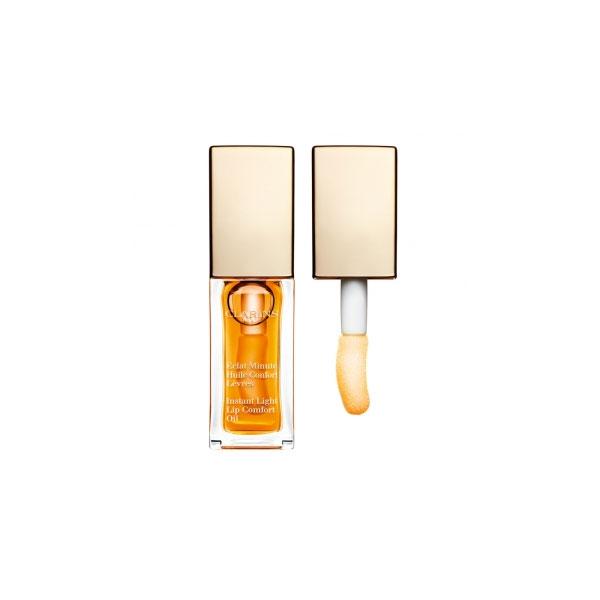 Clarins  Eclat minute huile confort levres  lucidalabbra 01 honey