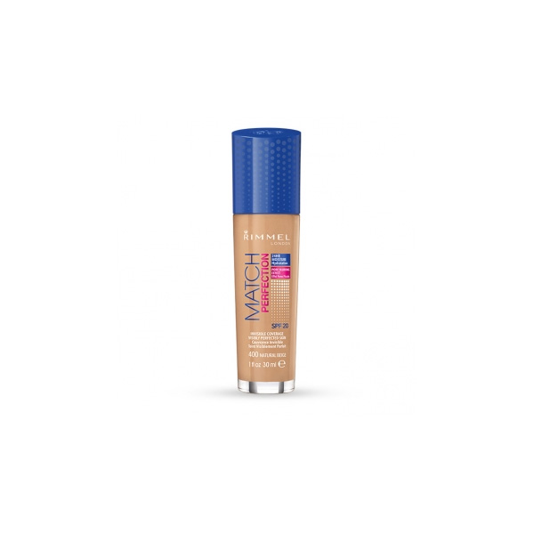 Rimmel  Match perfection foundation  fondotinta liquido 400 natural beige