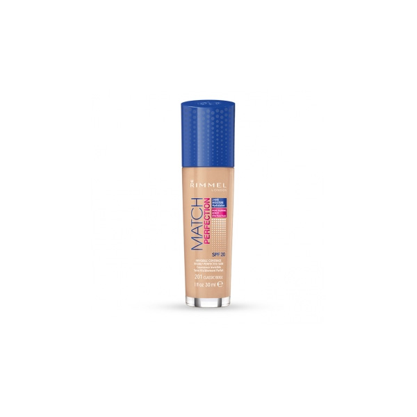 Rimmel  Match perfection foundation  fondotinta liquido 201 classic beige