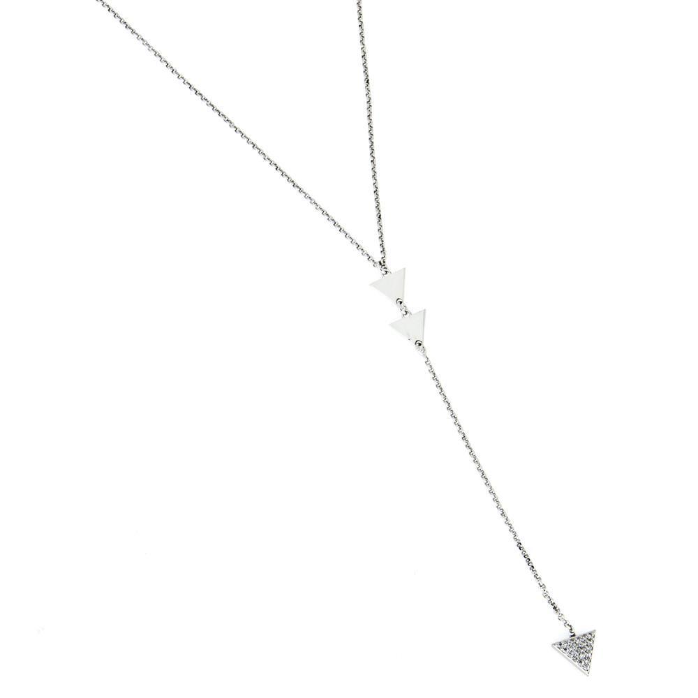 Paclo 16CC04IPNR999 argento ag 925 Collana Galvanica Rodiata Zircone Bianco Cool Classic 80 piu 5cm
