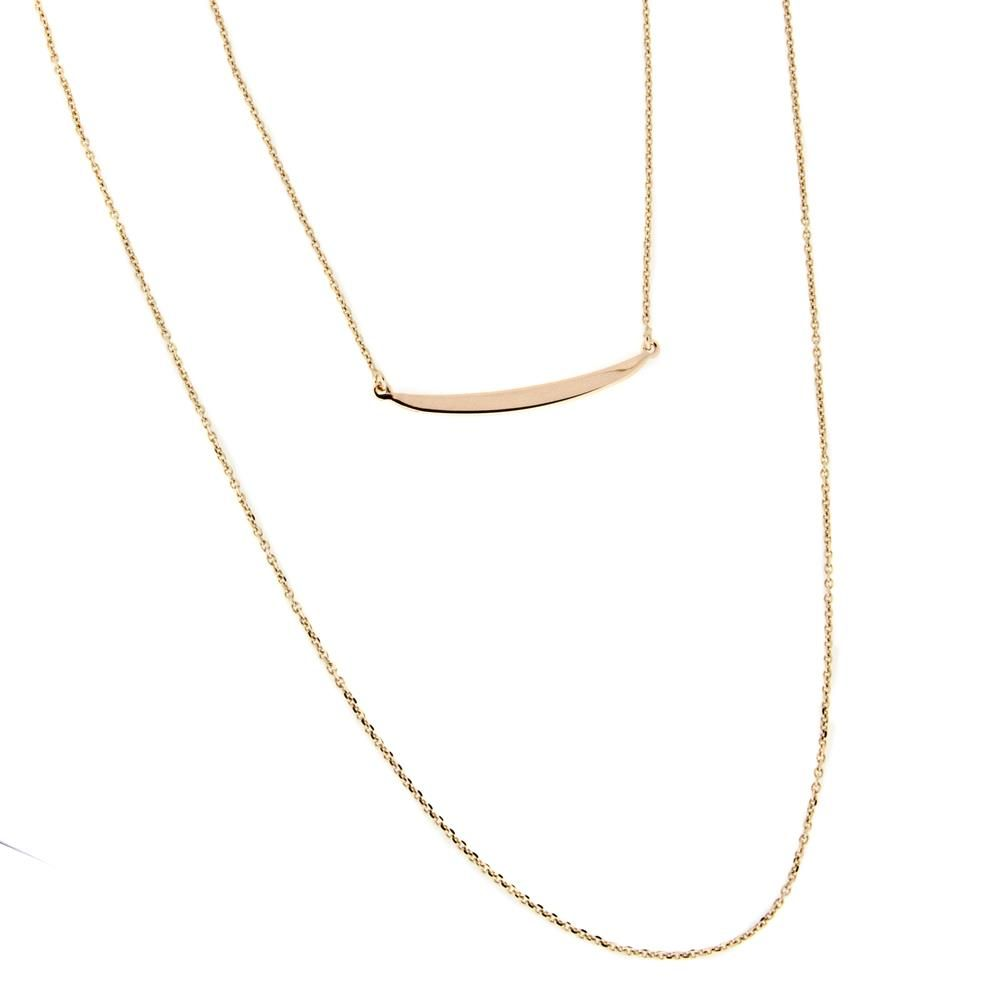 Paclo 16TA02LINP999 argento ag 925 Collana Galvanica Rose Multifilo 42 piu 3cm