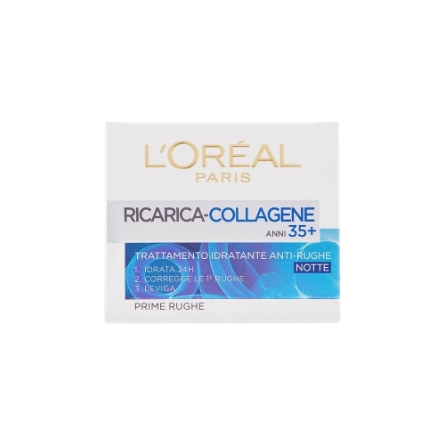 LOral Paris  Ricarica collagene trattamento idratante antirughe anni 35 notte 50 ml