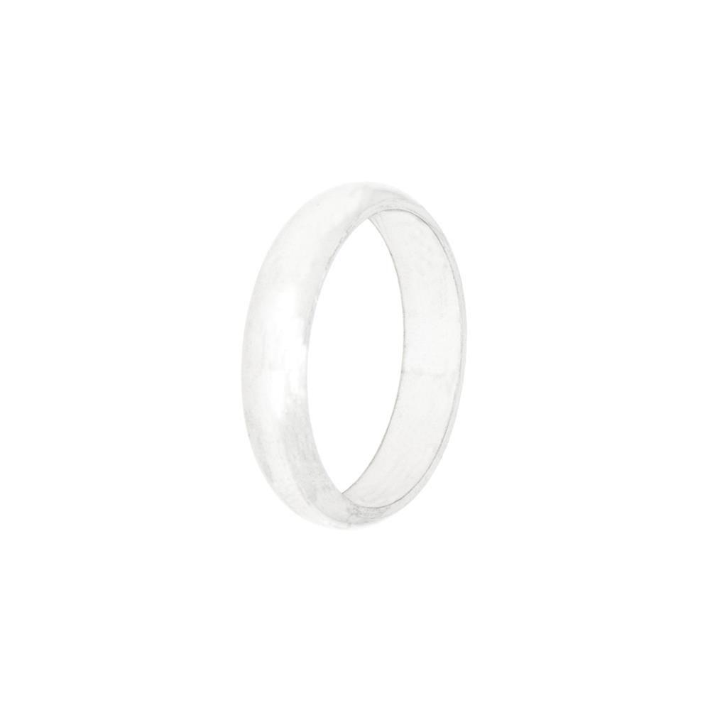 Paclo 10F005CLVR99B argento ag 925 Fedi Dim 10 ITA o 50 ISO Galvanica Rodiata Bombata Spessore 05cm