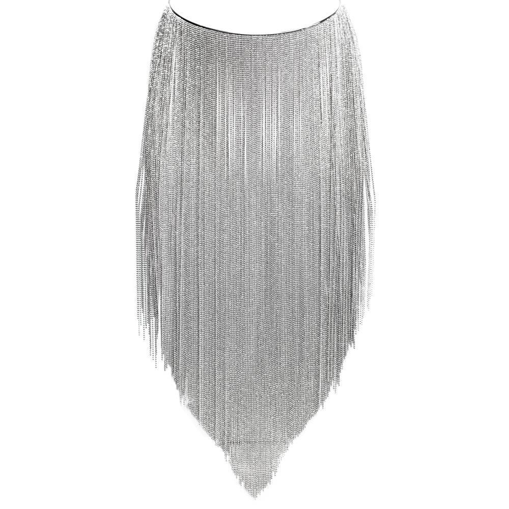 Paclo 16MF13LINR999 argento ag 925 Collana Galvanica Rodiata Multifilo da 33cm a salire