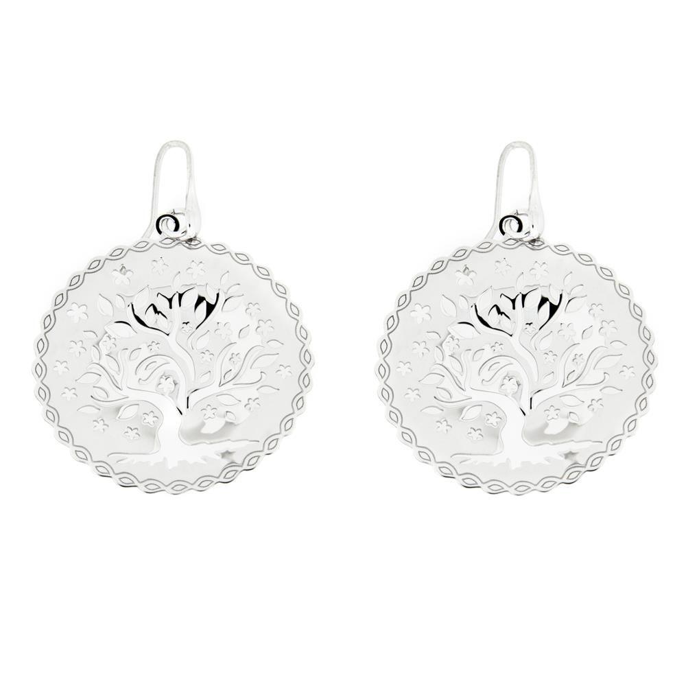 Paclo 16TL02LIER999 argento ag 925 Orecchini Galvanica Rodiata Albero della Vita 35cm