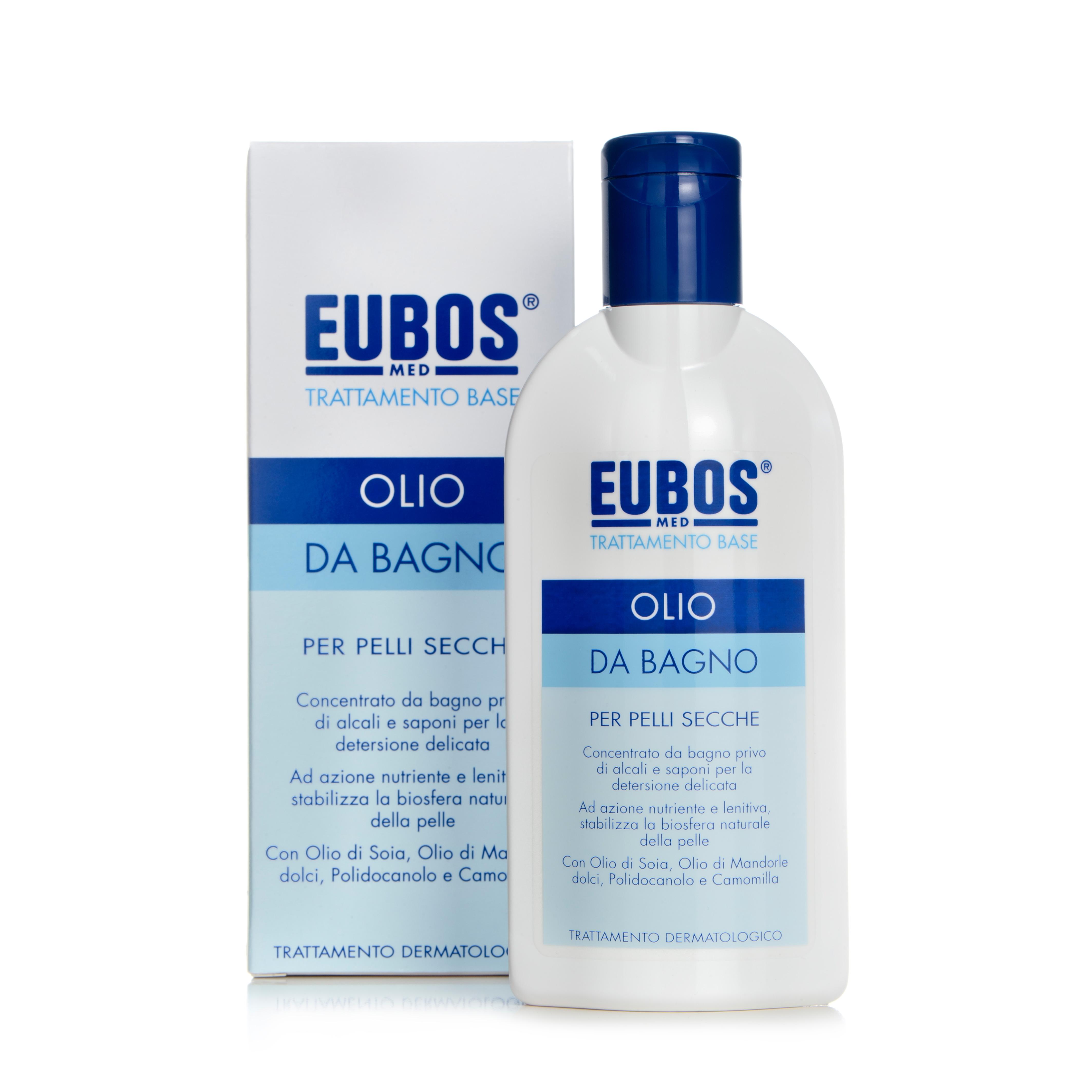 Eubos olio bagno ricarica 400 ml per pelli secche