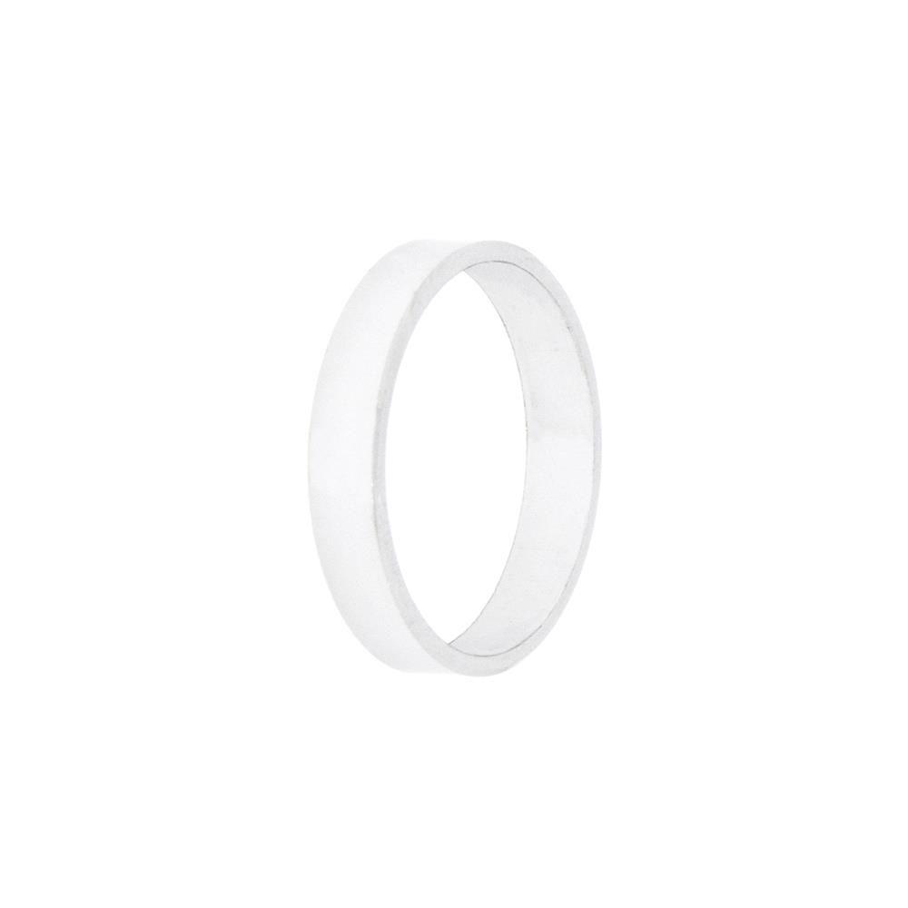 Paclo 10F004CLVR995 argento ag 925 Fedi Dim 13 ITA o 53 ISO Galvanica Rodiata Piatta Spessore 05cm
