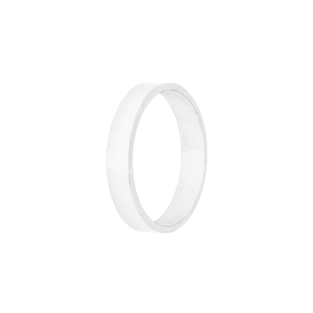Paclo 10F004CLVR99U argento ag 925 Fedi Dim 18 ITA o 58 ISO Galvanica Rodiata Piatta Spessore 05cm