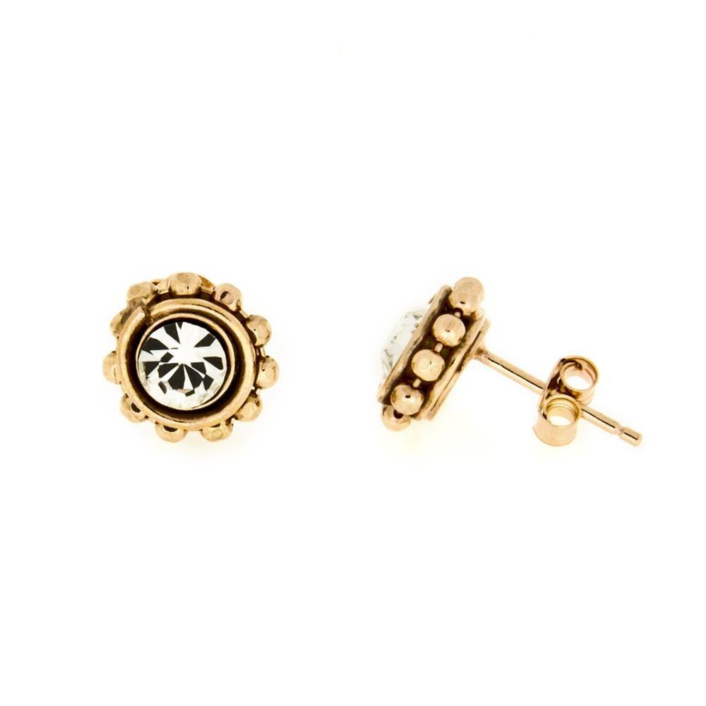 Paclo 16BE01CYEP999 argento ag 925 Orecchini Galvanica Ros Belle Epoque 1cm