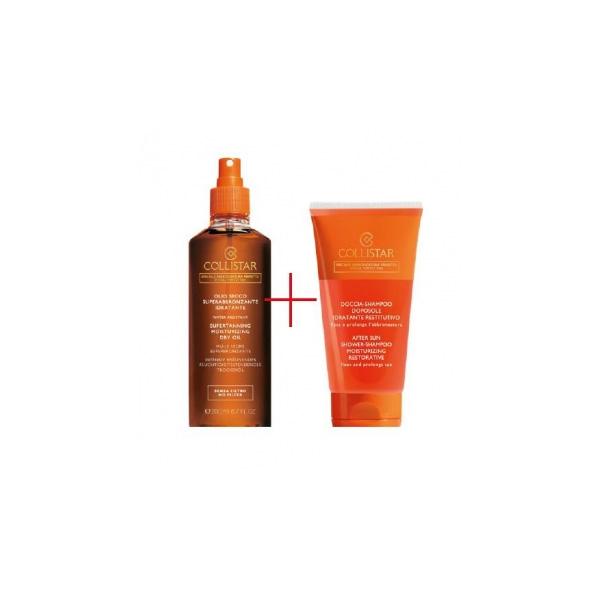 Collistar  Cofanetto olio secco superabbronzante idratante 200 ml  doccia shampoo doposole 150 ml