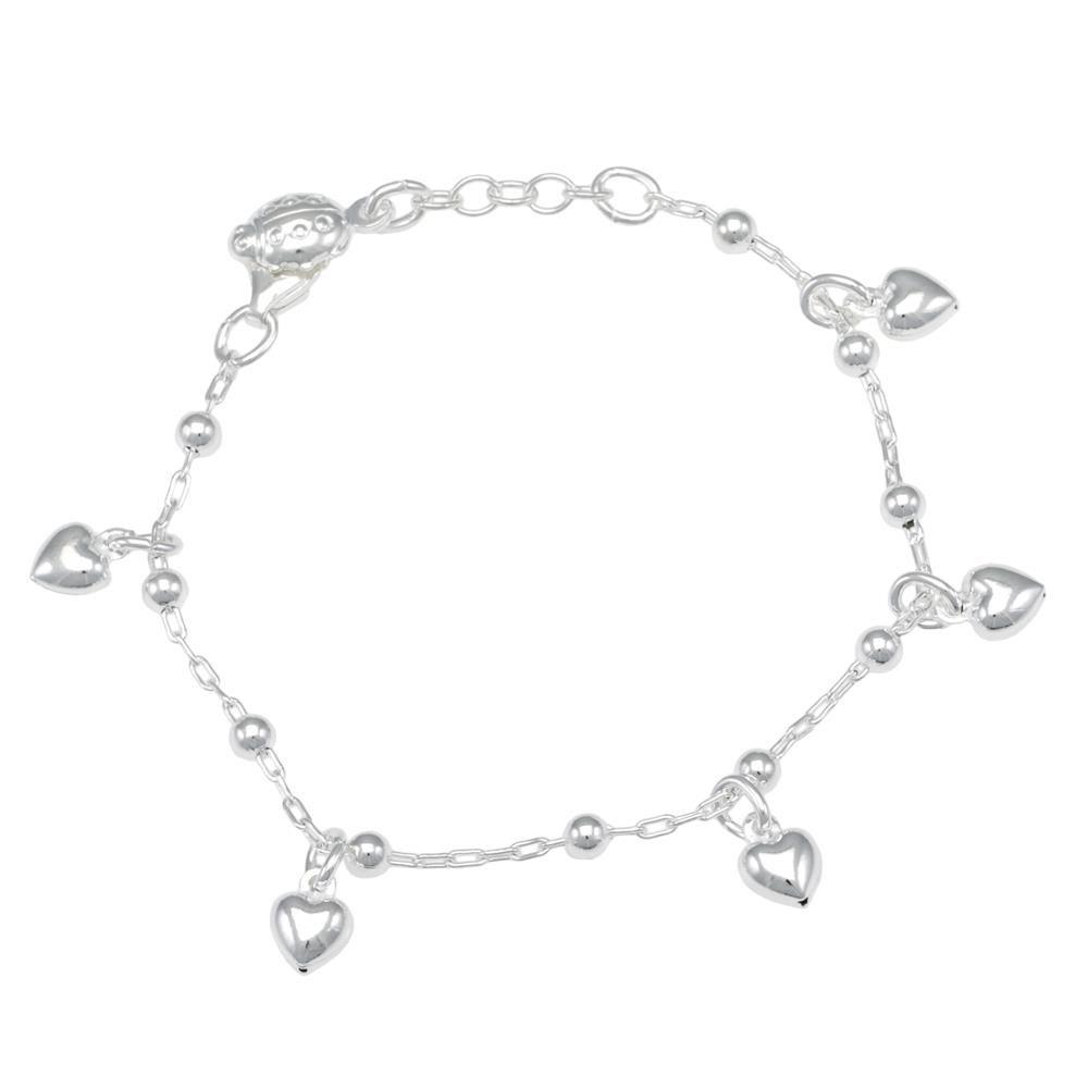 Paclo 16CU01PEBA999 argento ag 925 Bracciale Galvanica Argentata Cuore 14 piu 2cm