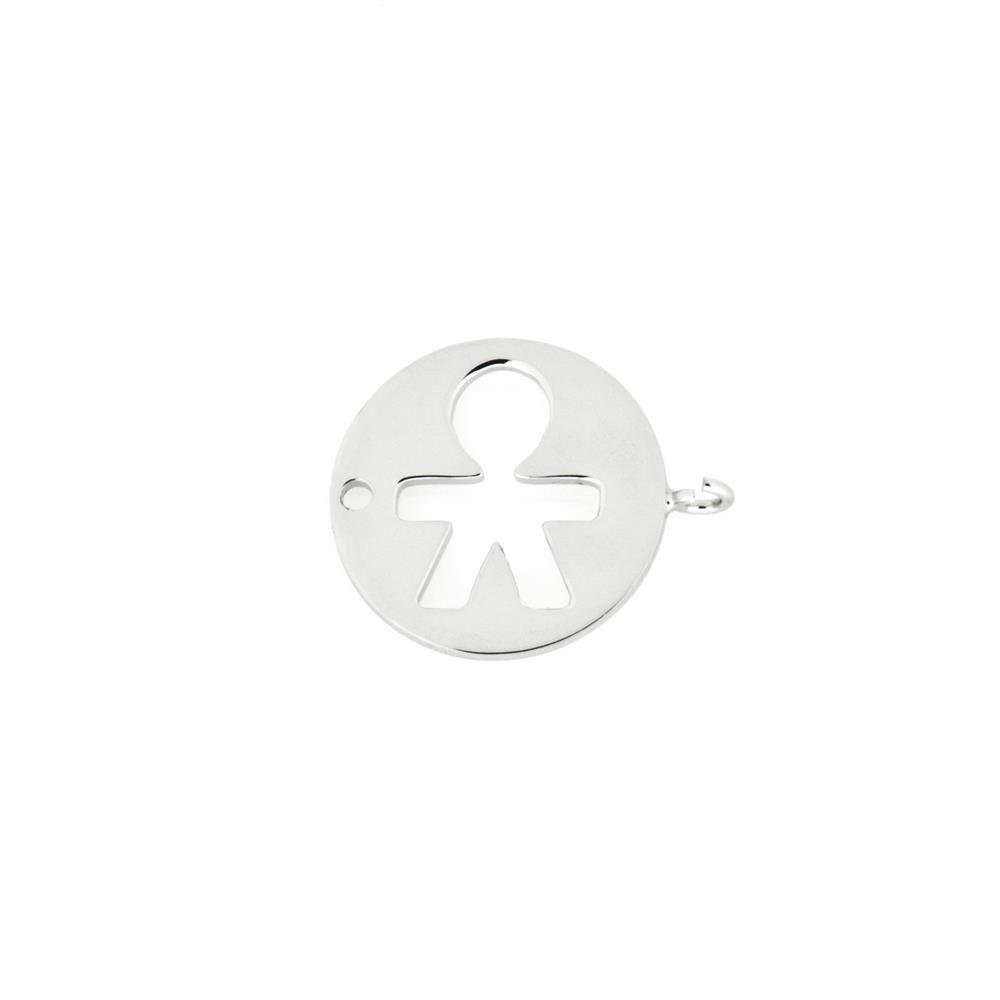 Paclo 16HT07LIGR999 argento ag 925 Charms Galvanica Rodiata Bambino 15cm