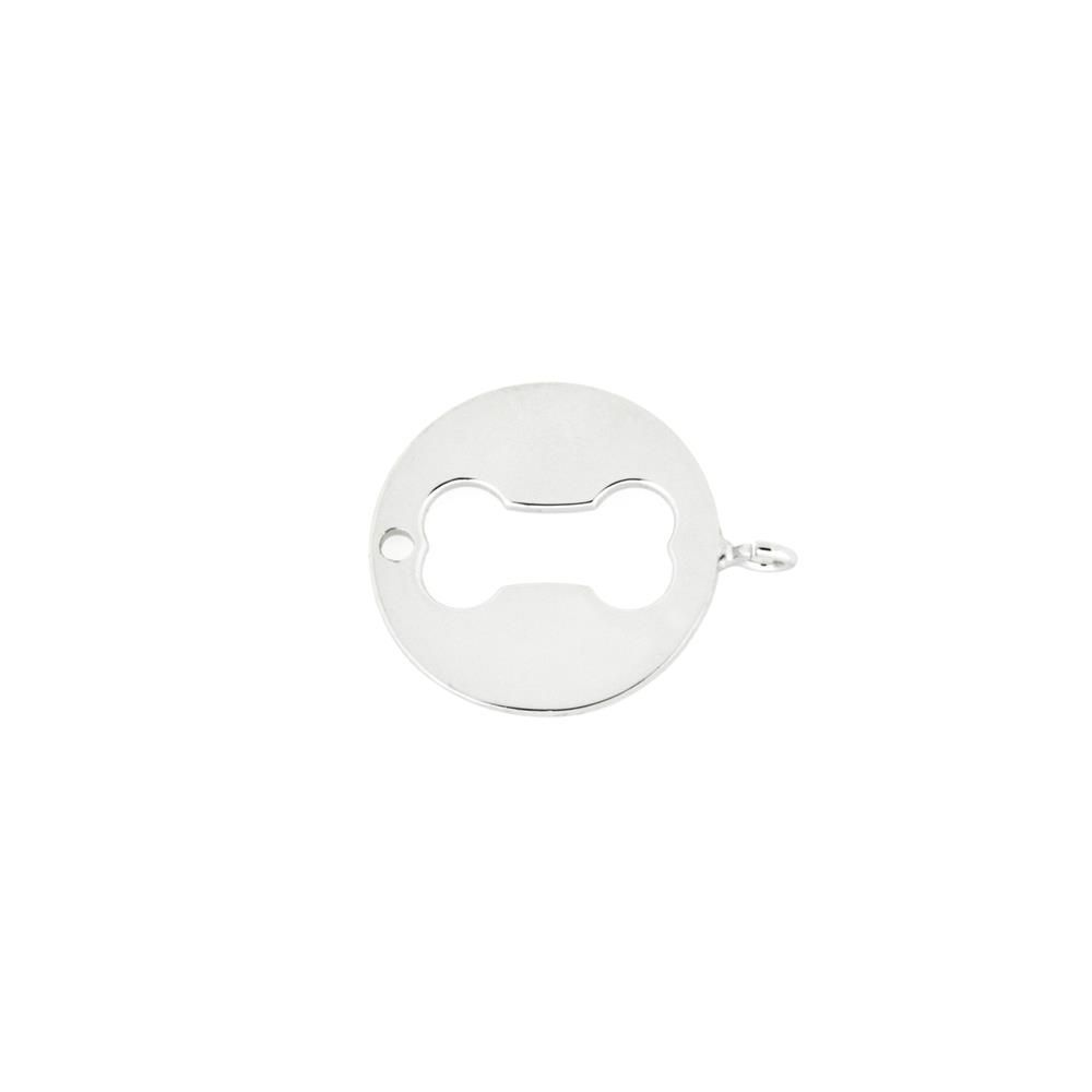 Paclo 16HT19LIGR999 argento ag 925 Charms Galvanica Rodiata Osso 15cm