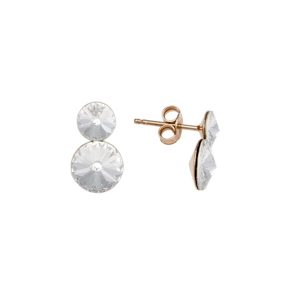 Paclo 16C016STEP999 argento ag 925 Orecchini Galvanica Rose e Swarovski Crystal 14cm