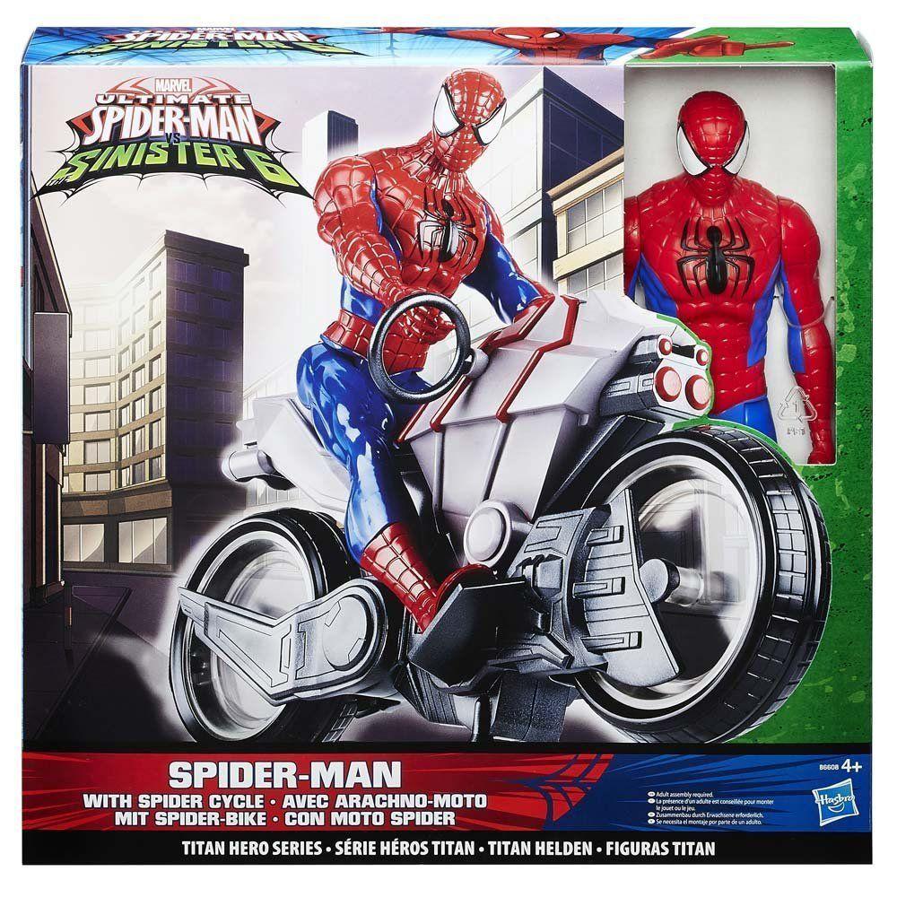 Hasbro Spiderman Vs Sinister 6 Personaggio con Moto
