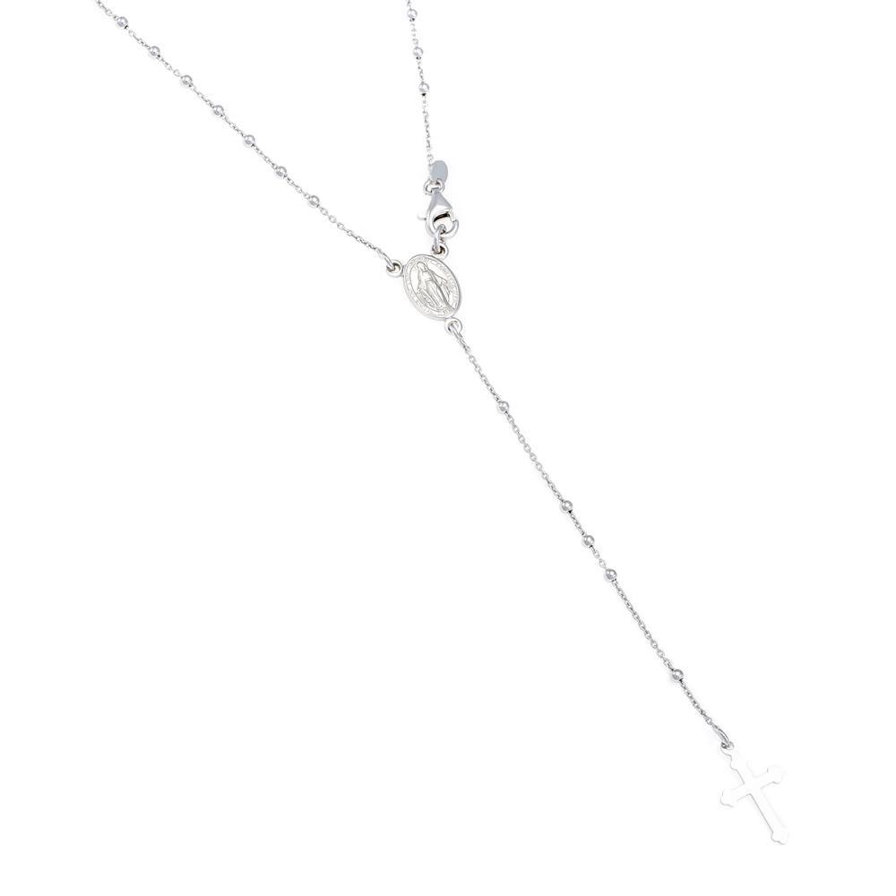 Paclo 16CR13RENR999 argento ag 925 Collana Galvanica Rodiata Motivo Religioso 42cm