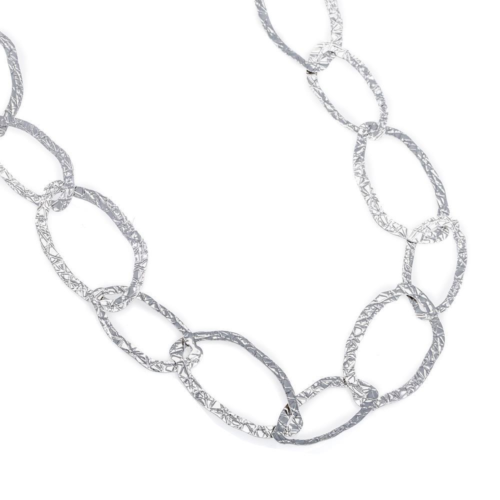 Paclo 16LA24CONR999 argento ag 925 Collana Galvanica Rodiata 90cm