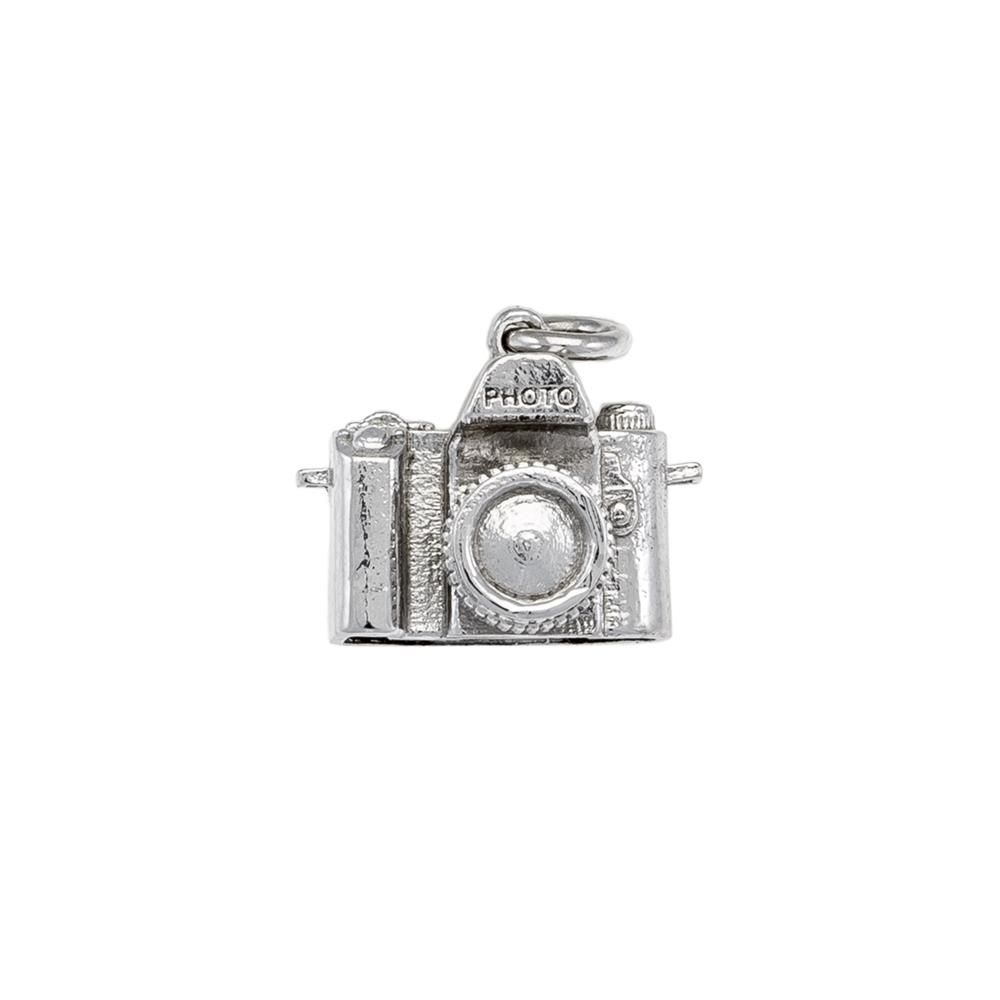 Paclo 16SY01LIPR999 argento ag 925 Pendente Galvanica Rodiata Macchina Fotografica 15cm