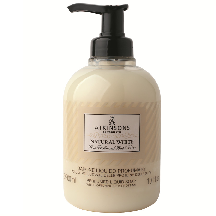 Atkinsons Sapone liquido natural white 300 ml