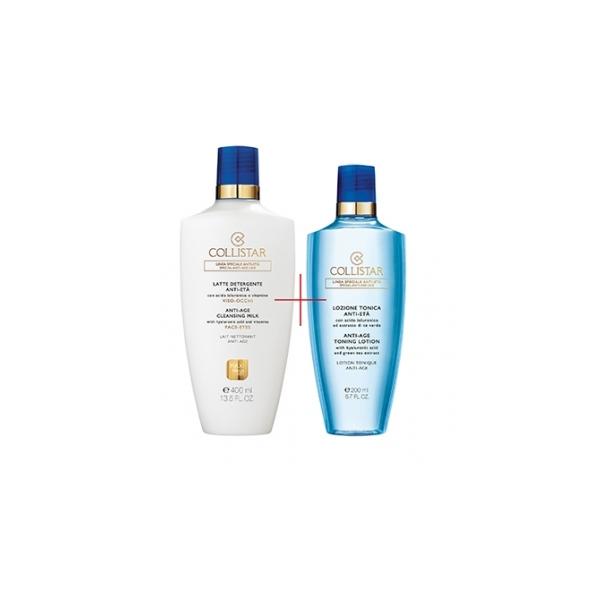 Collistar  Cofanetto latte detergente antieta viso occhi 400 ml  lozione tonica antieta 200 ml